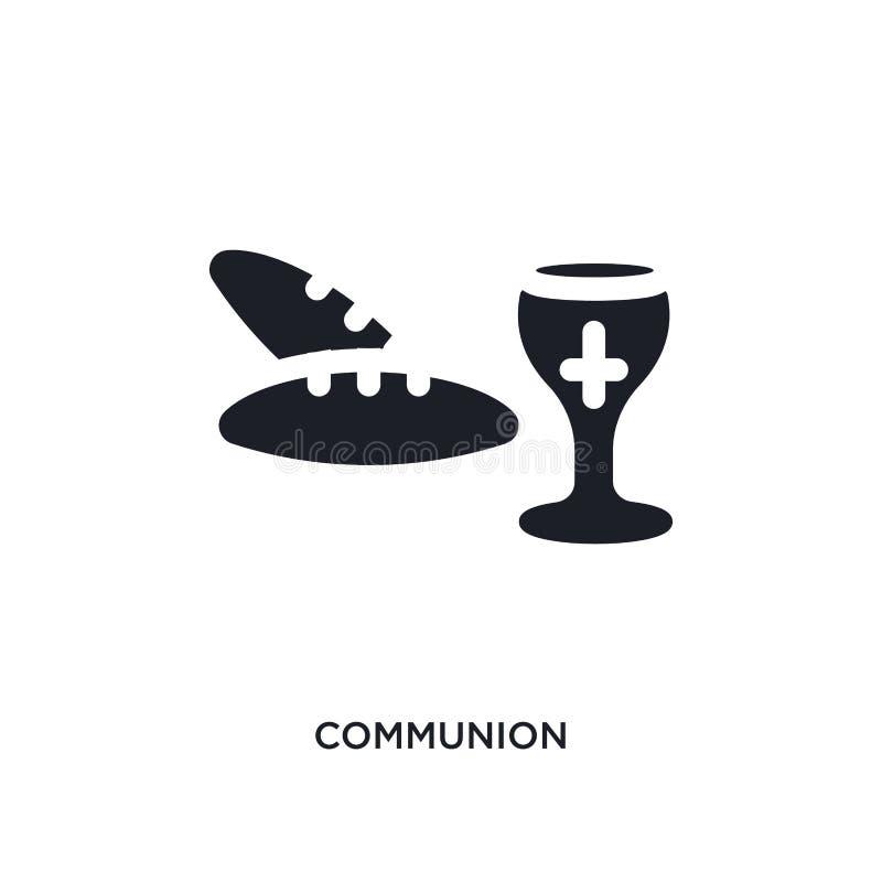 icono aislado comunión negra del vector ejemplo simple del elemento de iconos del vector del concepto de la religi?n logotipo edi stock de ilustración