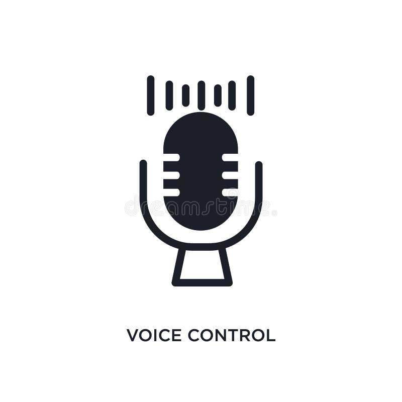 icono aislado control de la voz ejemplo simple del elemento de iconos elegantes del concepto de la casa símbolo editable de la mu libre illustration