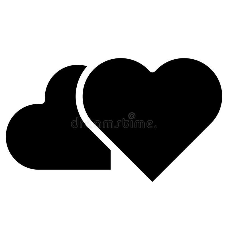 Icono aislado corazón del vector que puede ser modificado o corregir fácilmente en cualquier icono aislado corazón del vector del ilustración del vector