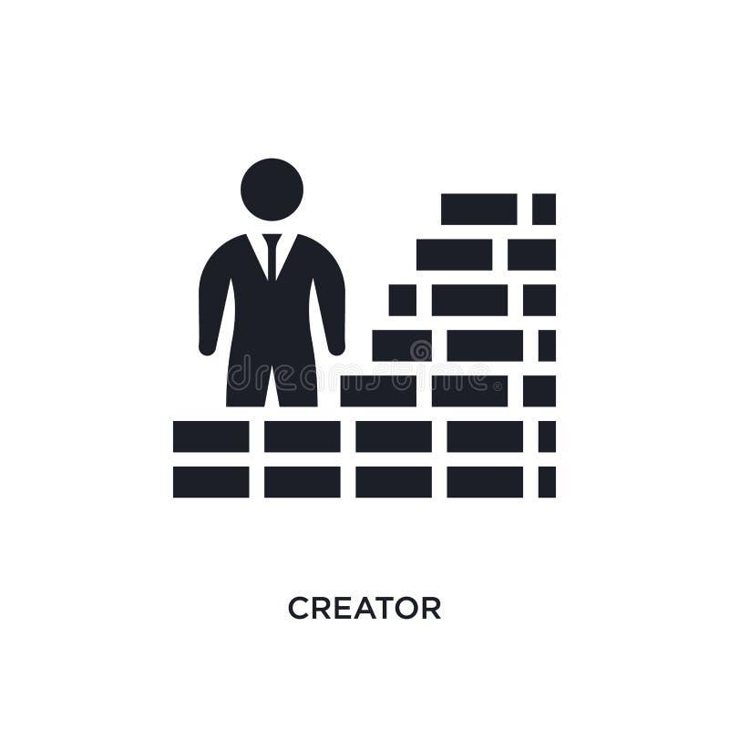 icono aislado creador ejemplo simple del elemento de iconos crowdfunding del concepto diseño editable del símbolo de la muestra d ilustración del vector