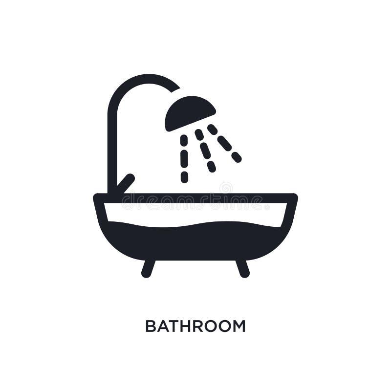 icono aislado cuarto de baño ejemplo simple del elemento de iconos del concepto de la higiene diseño editable del símbolo de la m stock de ilustración