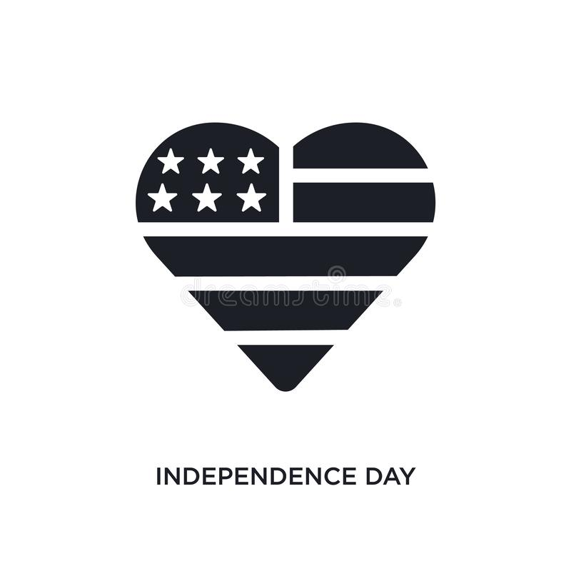 icono aislado Día de la Independencia negro del vector ejemplo simple del elemento de iconos del vector del concepto de Estados U ilustración del vector