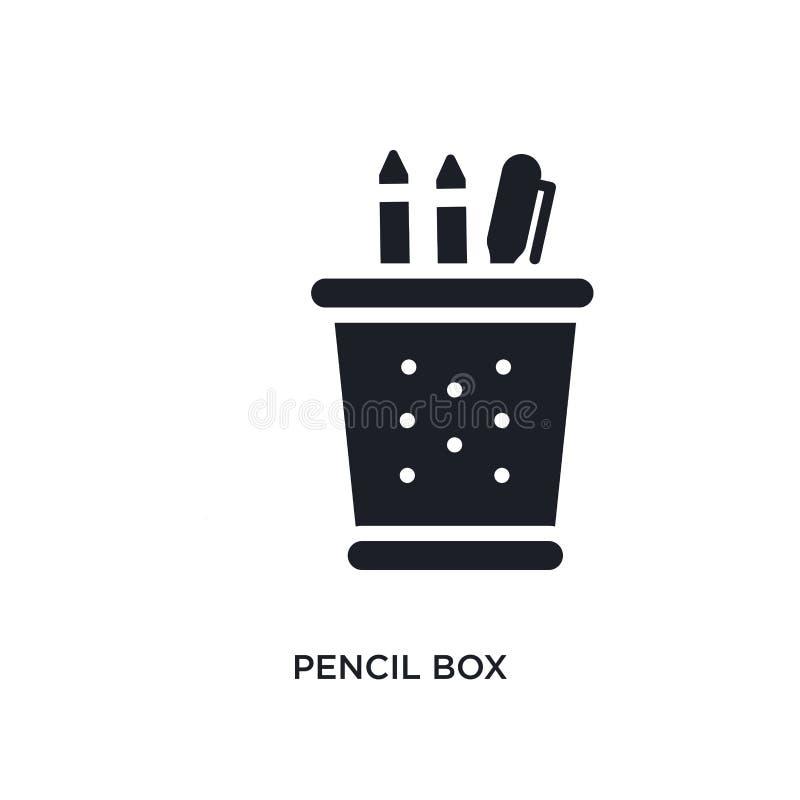 icono aislado de la caja de lápiz ejemplo simple del elemento de iconos del concepto del aprendizaje electrónico y de la educació fotografía de archivo libre de regalías