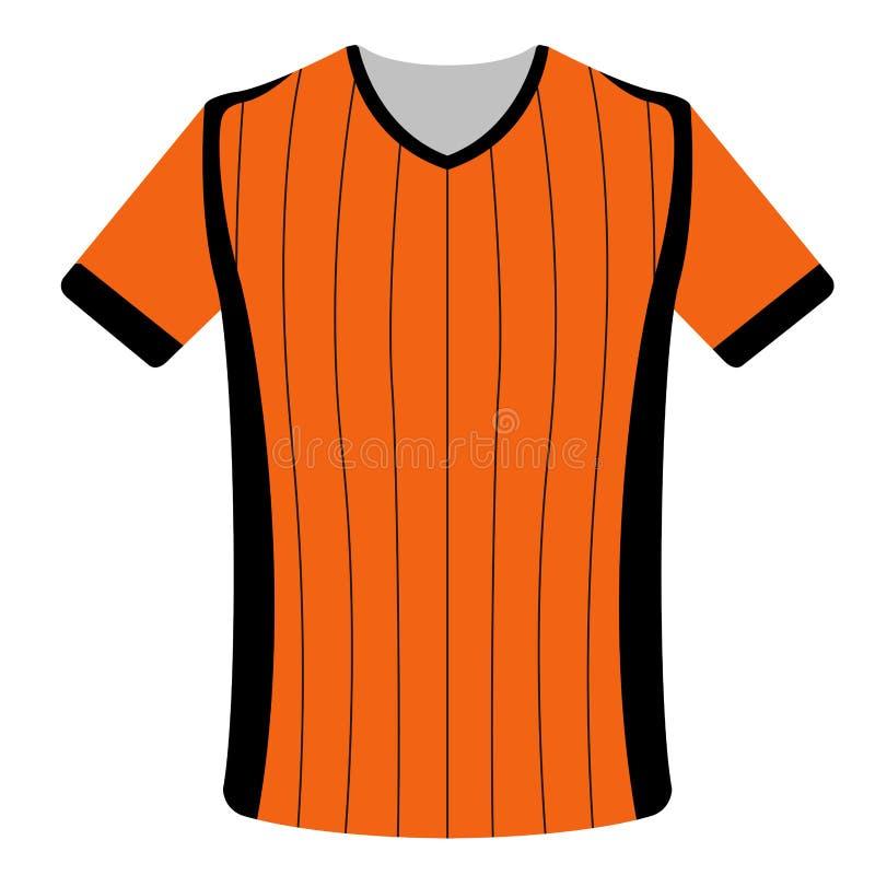 Icono aislado de la camisa de deporte ilustración del vector