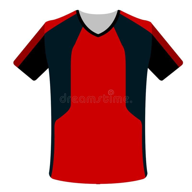 Icono aislado de la camisa de deporte stock de ilustración