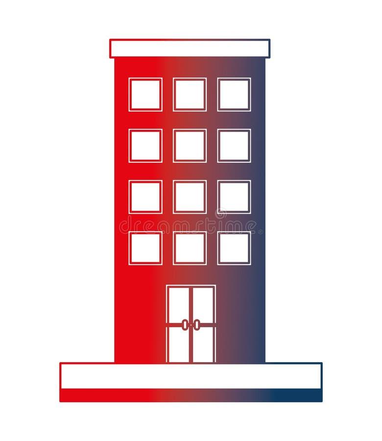 Icono aislado de la estructura de edificio libre illustration