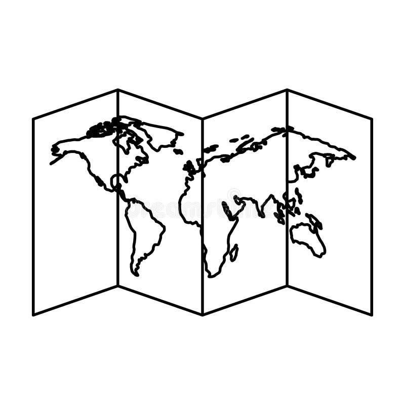 Icono aislado de la guía de papel del mapa libre illustration