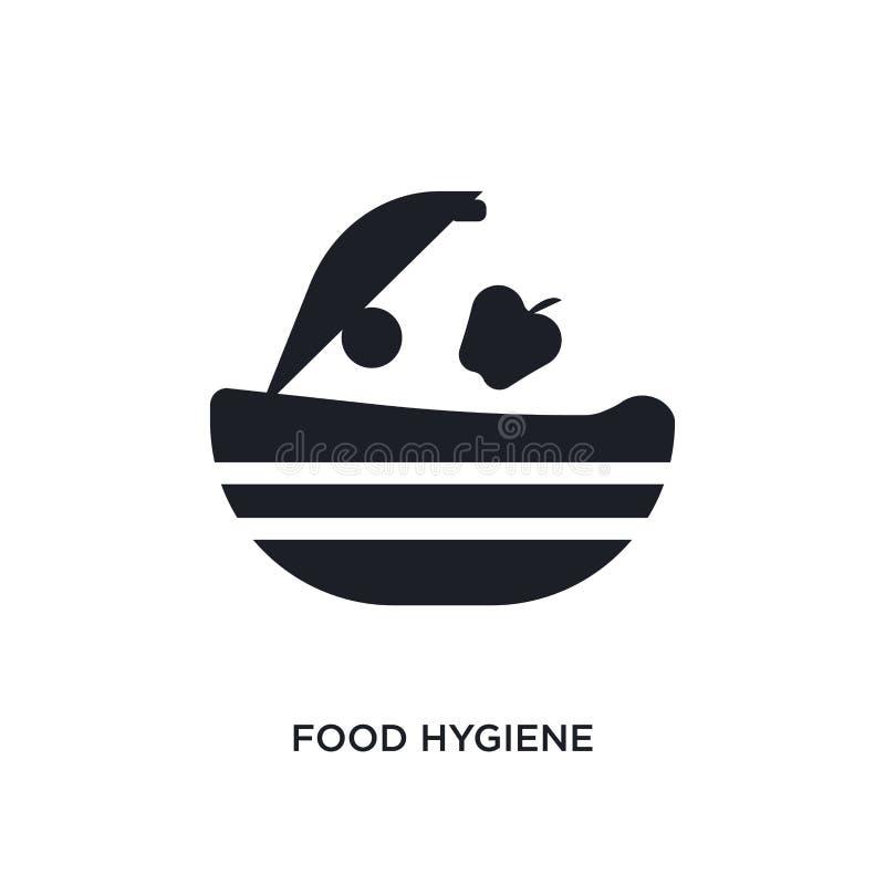 icono aislado de la higiene alimenticia ejemplo simple del elemento de iconos del concepto de la higiene diseño editable del símb stock de ilustración