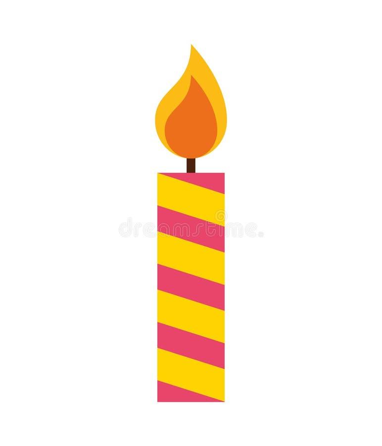 Icono aislado de la llama de vela stock de ilustración