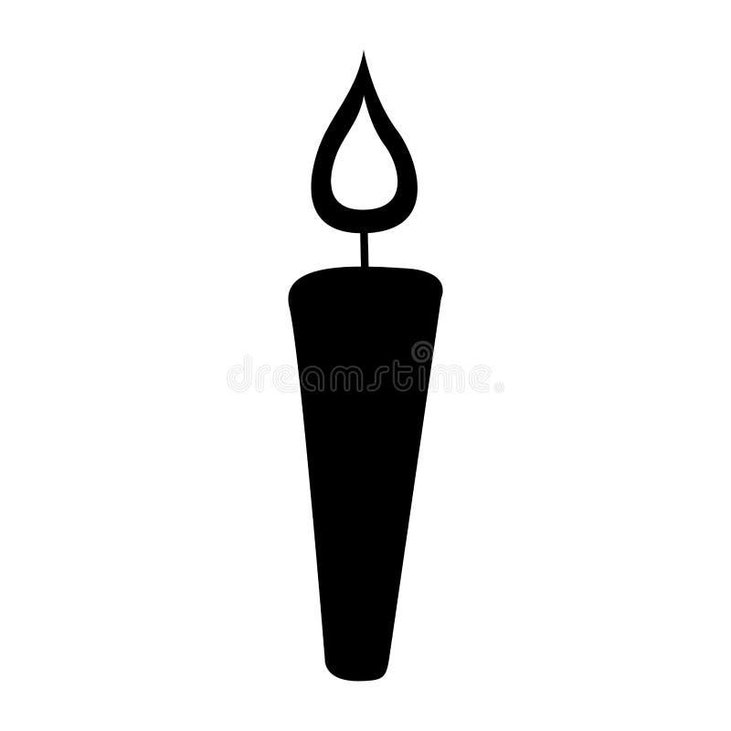 Icono aislado de la llama de vela libre illustration