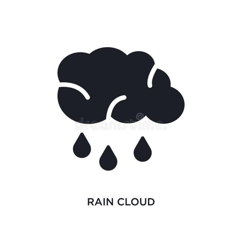 icono aislado de la nube de lluvia ejemplo simple del elemento de últimos iconos del concepto de los glyphicons símbolo editable  libre illustration