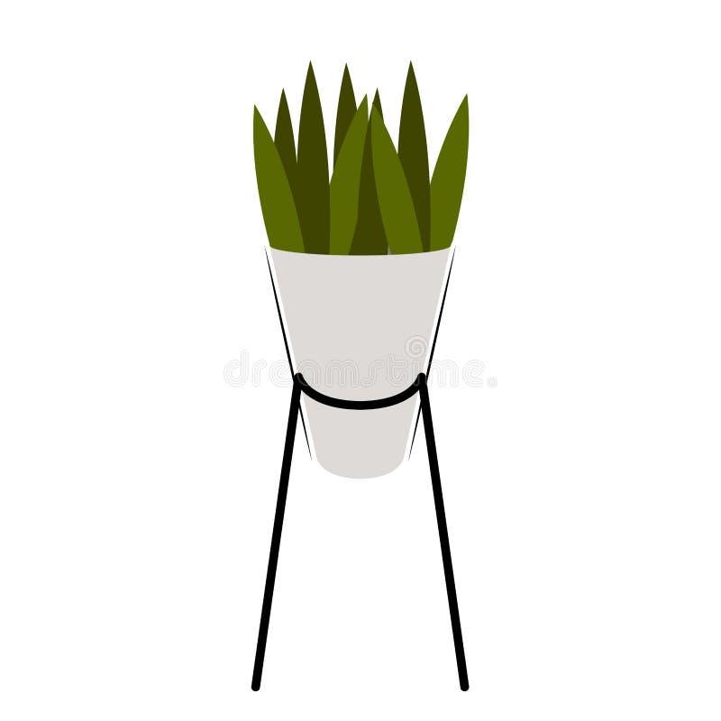 Icono aislado de la planta verde stock de ilustración