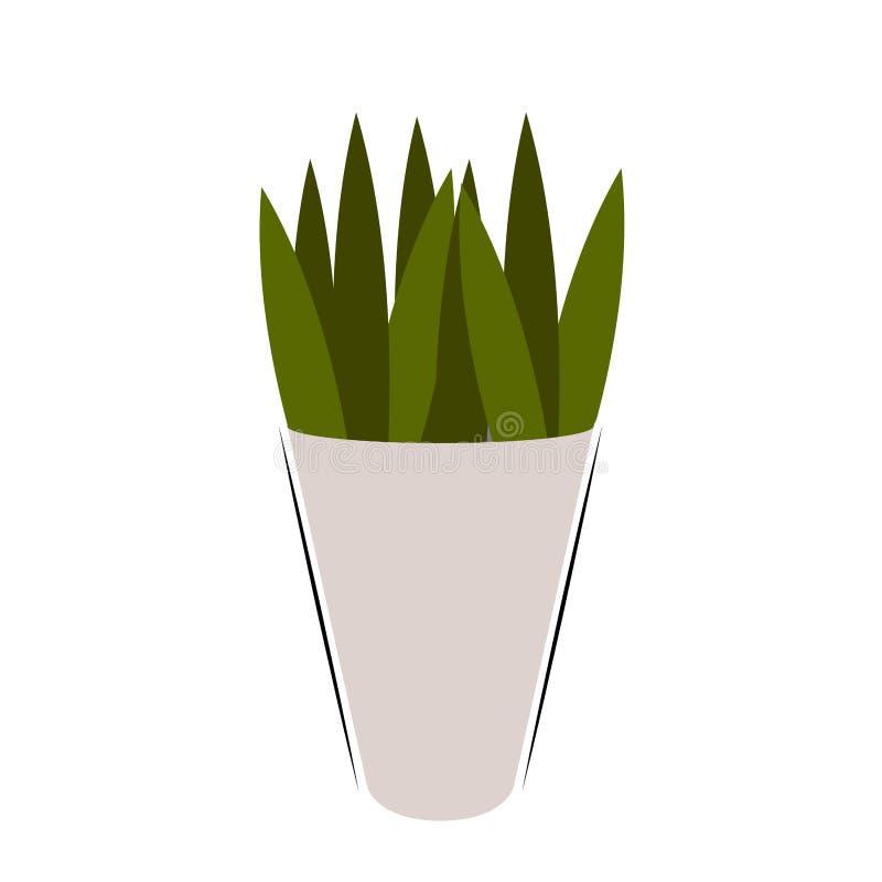 Icono aislado de la planta verde ilustración del vector