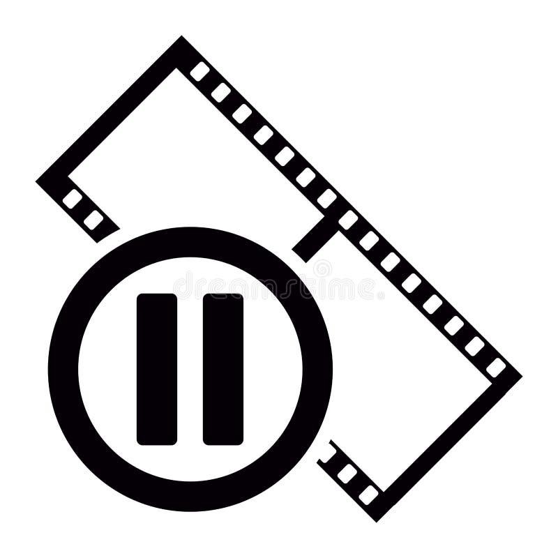 Icono aislado de la tira de película stock de ilustración
