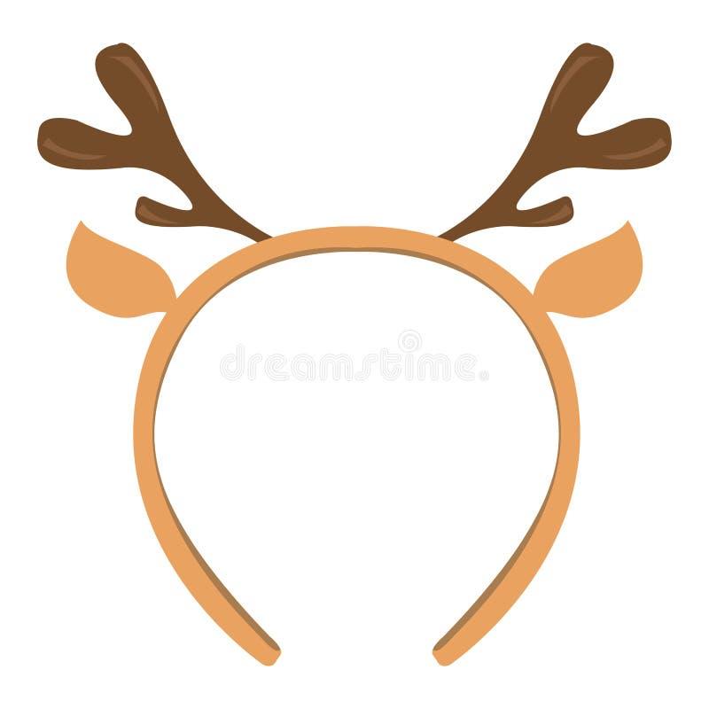 Icono aislado de la venda con los cuernos de los alces stock de ilustración