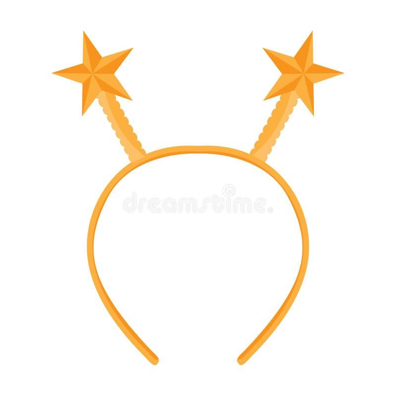 Icono aislado de la venda con los oídos de la forma de la estrella libre illustration