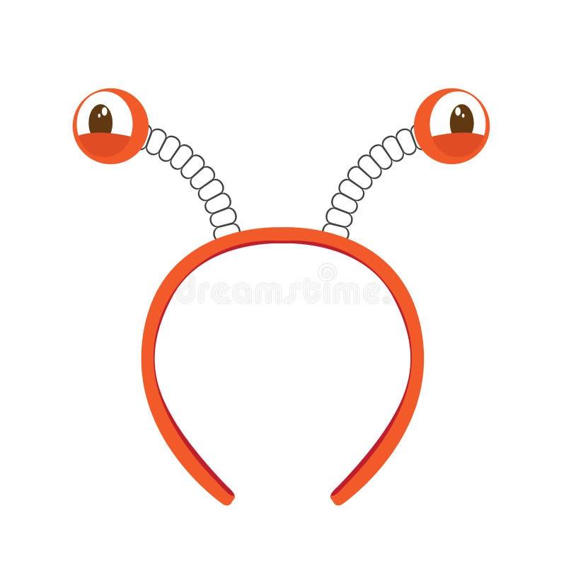 Icono aislado de la venda con los ojos del cangrejo stock de ilustración