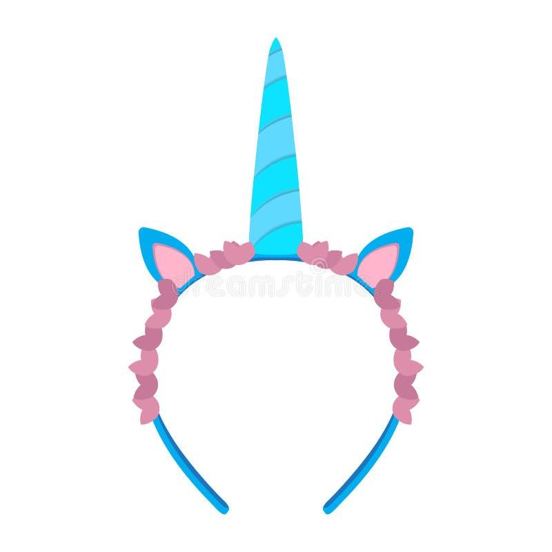 Icono aislado de la venda del unicornio libre illustration