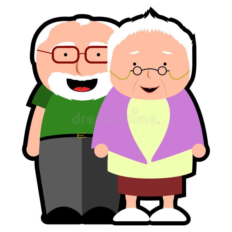 Icono aislado de los abuelos libre illustration