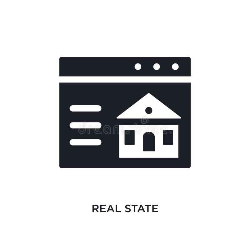 icono aislado de los bienes inmuebles ejemplo simple del elemento de iconos del concepto de las propiedades inmobiliarias diseño  stock de ilustración
