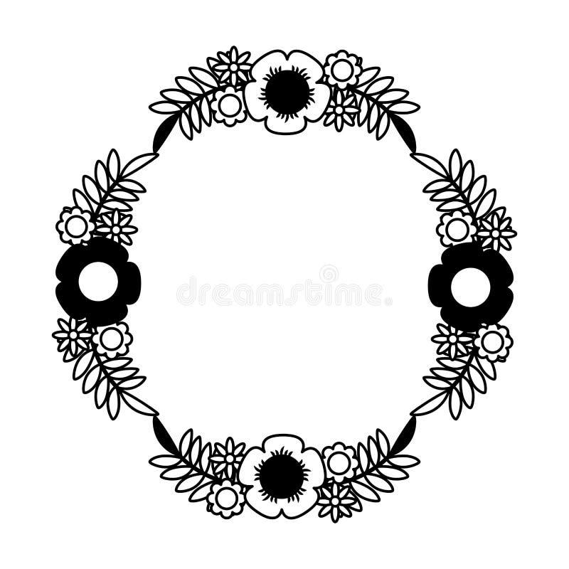 icono aislado decorativo de la flor libre illustration