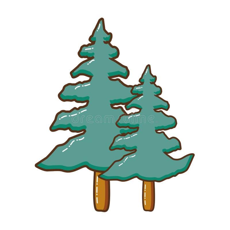 Icono aislado del árbol alto libre illustration