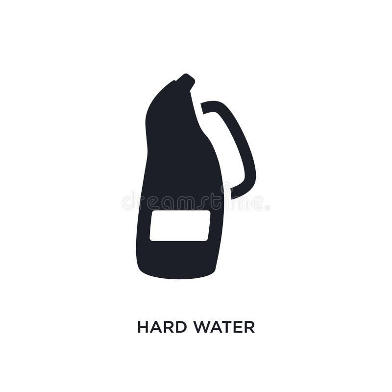 icono aislado del agua dura ejemplo simple del elemento de iconos de limpieza del concepto diseño editable del símbolo de la mues stock de ilustración