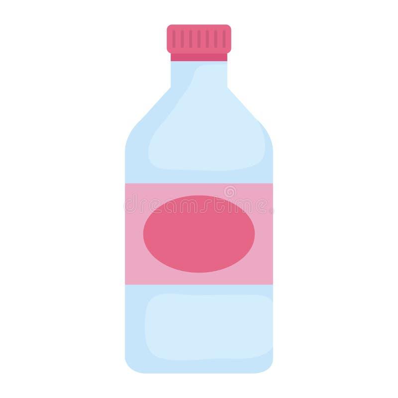 Icono aislado del cristal de botellas stock de ilustración