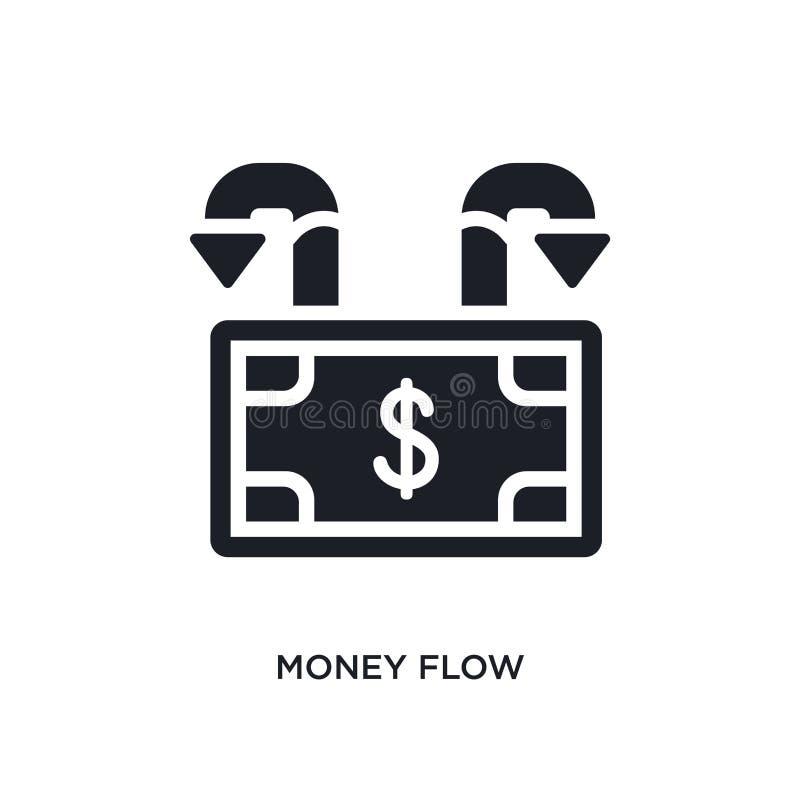 icono aislado del flujo de dinero ejemplo simple del elemento de iconos de la economía y del concepto de las finanzas símbolo edi stock de ilustración