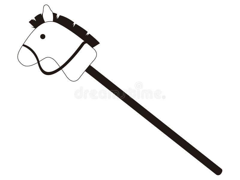 Icono aislado del juguete del palillo del caballo stock de ilustración