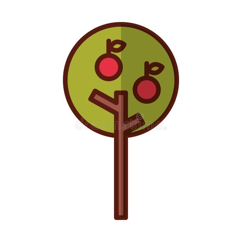 icono aislado del manzano libre illustration
