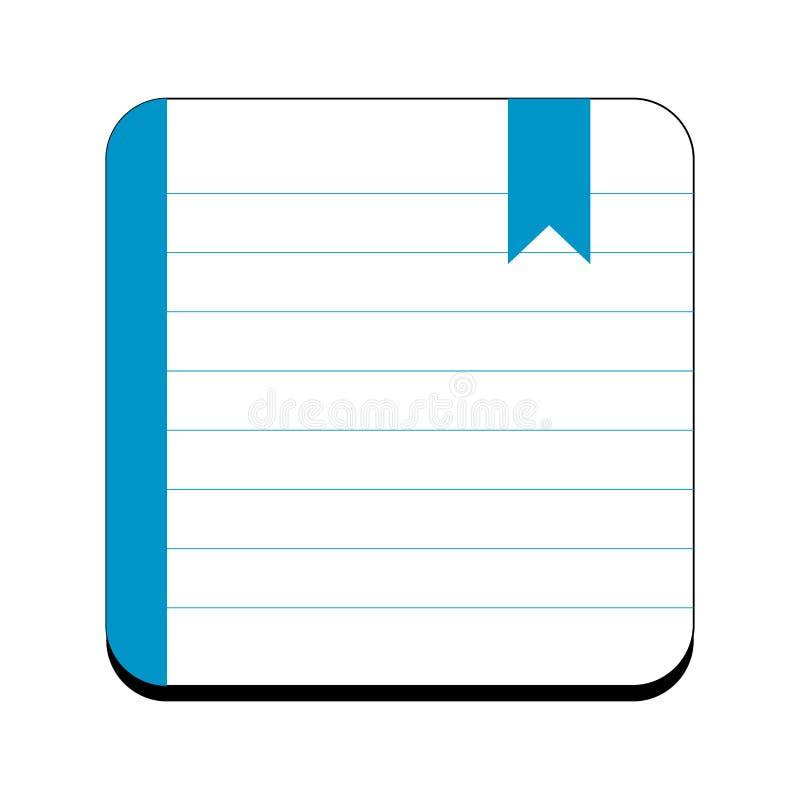 Icono aislado del orden del día ilustración del vector