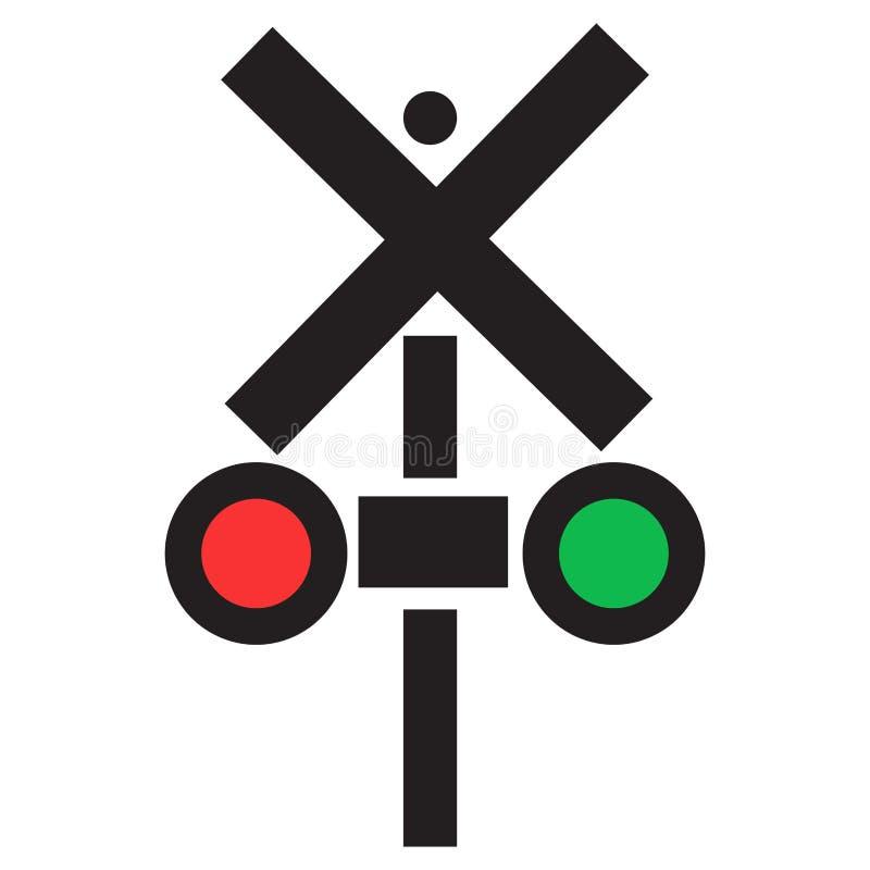 Icono aislado del semáforo ilustración del vector