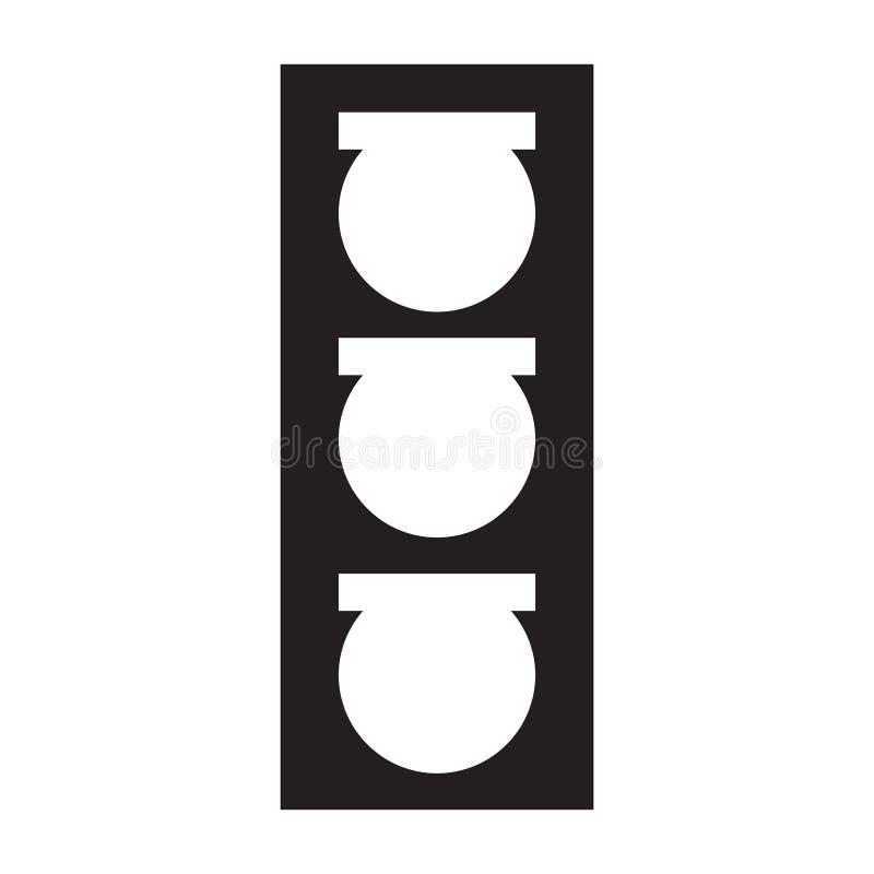 Icono aislado del semáforo libre illustration