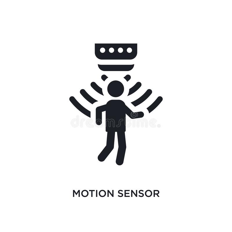 icono aislado del sensor de movimiento ejemplo simple del elemento de iconos artificiales del concepto del intellegence logotipo  libre illustration