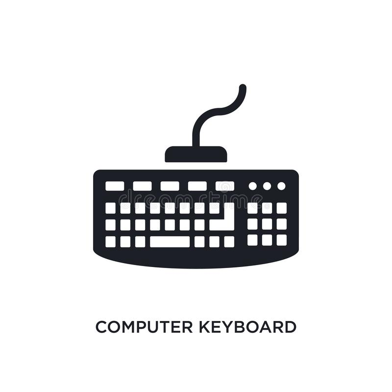 Icono aislado del teclado de ordenador ejemplo simple del elemento de últimos iconos del concepto de los glyphicons teclado de or ilustración del vector