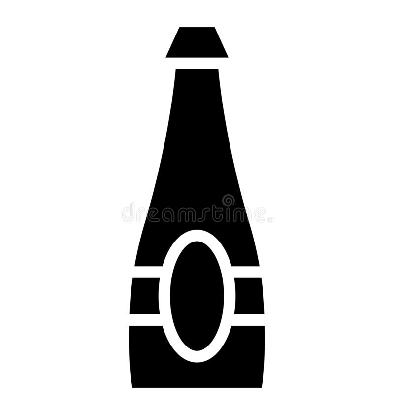 Icono aislado del vector de la botella de vino que puede ser modificado o corregir fácilmente en cualquier icono aislado del vect ilustración del vector