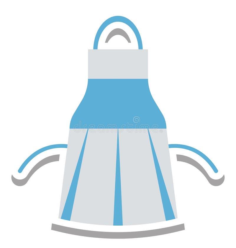 Icono aislado delantal del vector editable stock de ilustración