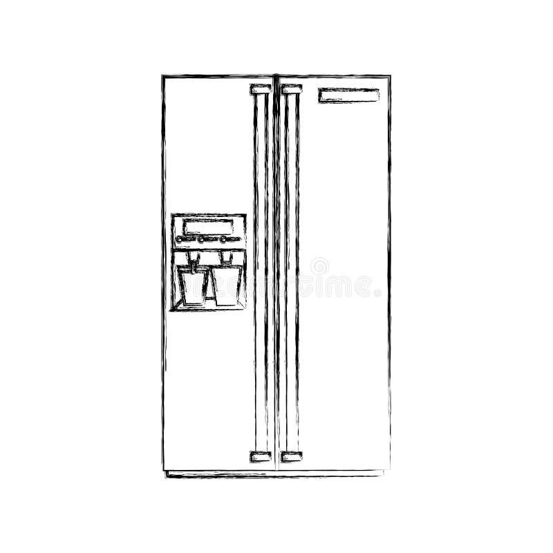 Icono aislado dispositivo del refrigerador libre illustration