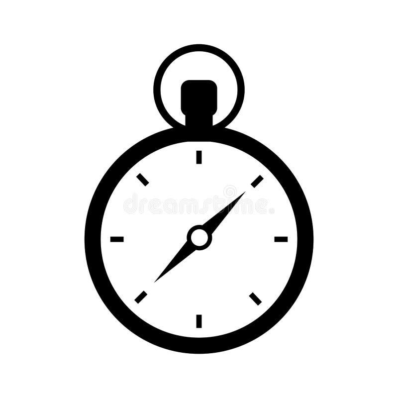 Icono aislado dispositivo del viaje del compás ilustración del vector
