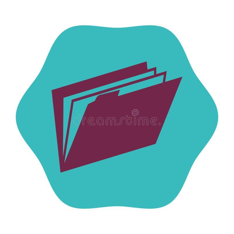 Icono aislado documento de la carpeta stock de ilustración