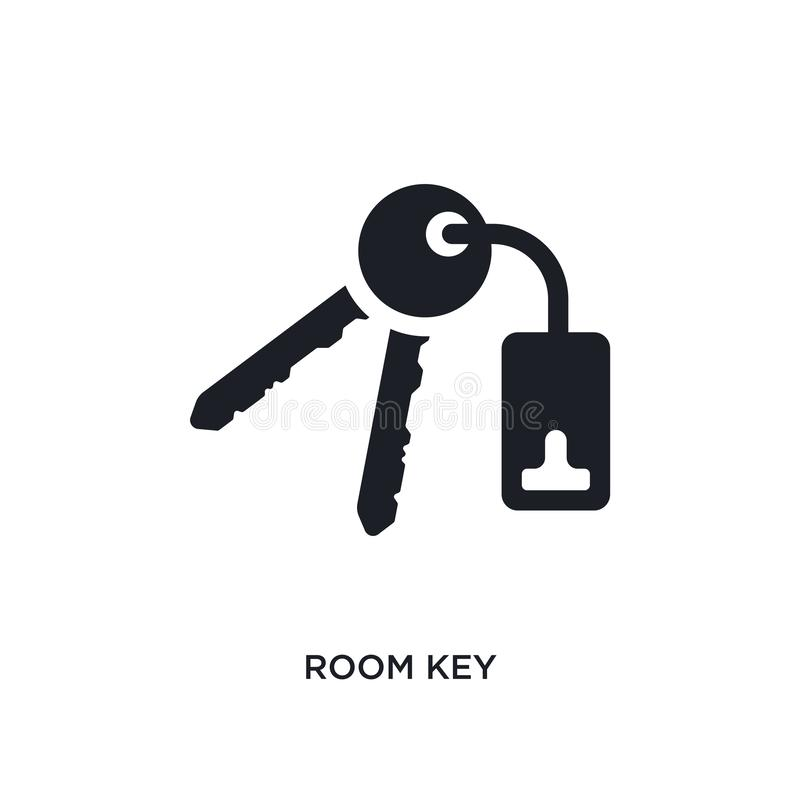 icono aislado dominante negro del vector del sitio ejemplo simple del elemento de iconos del vector del concepto del hotel símbol stock de ilustración