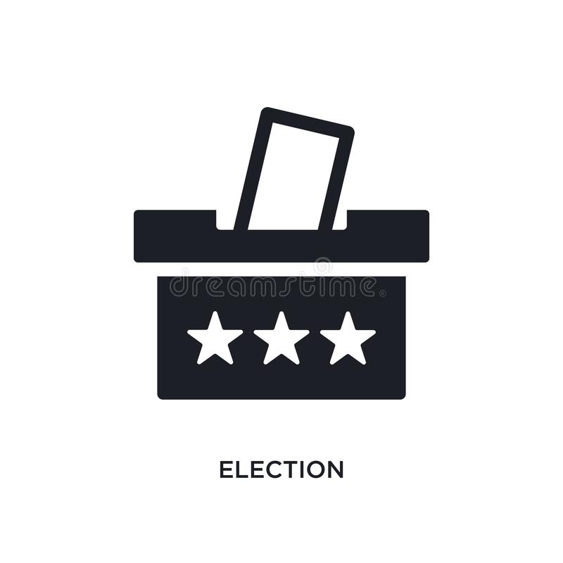 icono aislado elección ejemplo simple del elemento de iconos políticos del concepto diseño editable del símbolo de la muestra del ilustración del vector