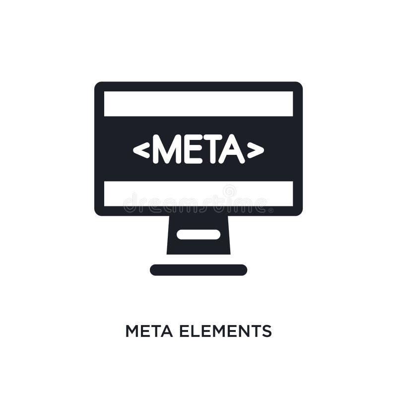icono aislado elementos de la meta ejemplo simple del elemento de iconos del concepto de la tecnología símbolo editable de la mue stock de ilustración
