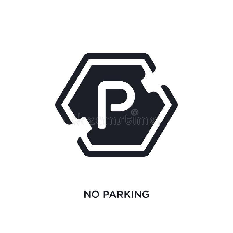 icono aislado estacionamiento prohibido ejemplo simple del elemento de iconos del concepto de las muestras diseño editable del sí stock de ilustración