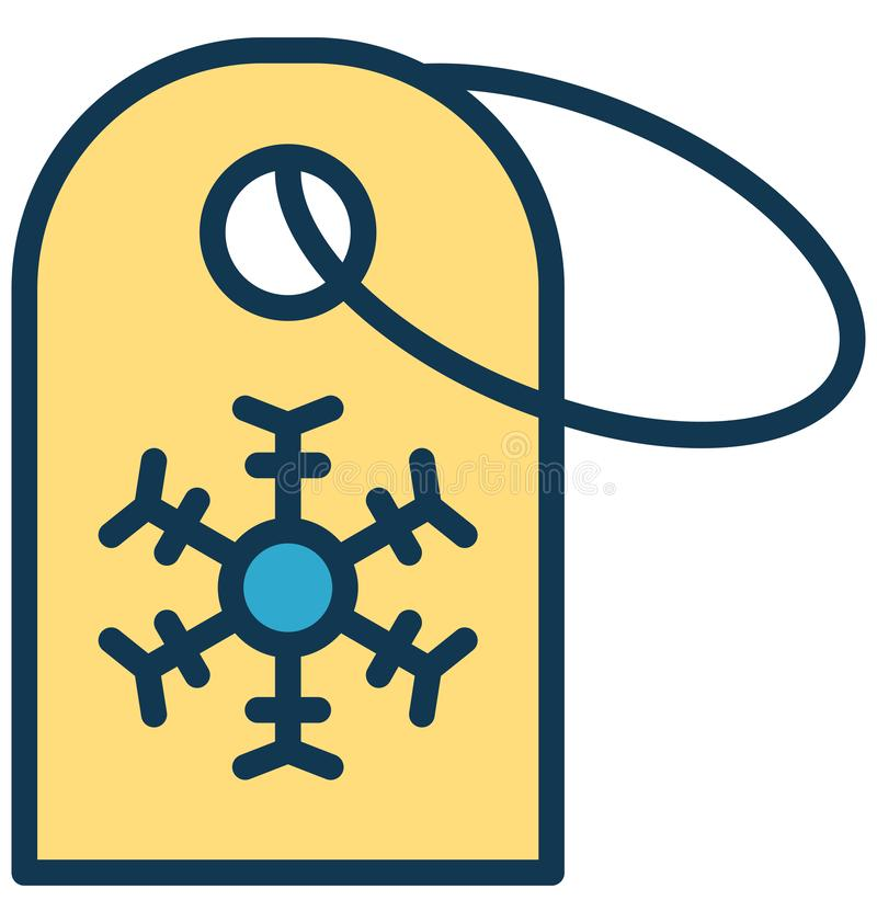 Icono aislado etiqueta del vector de la Navidad que puede ser modificado o corregir fácilmente en cualquier icono aislado etiquet stock de ilustración