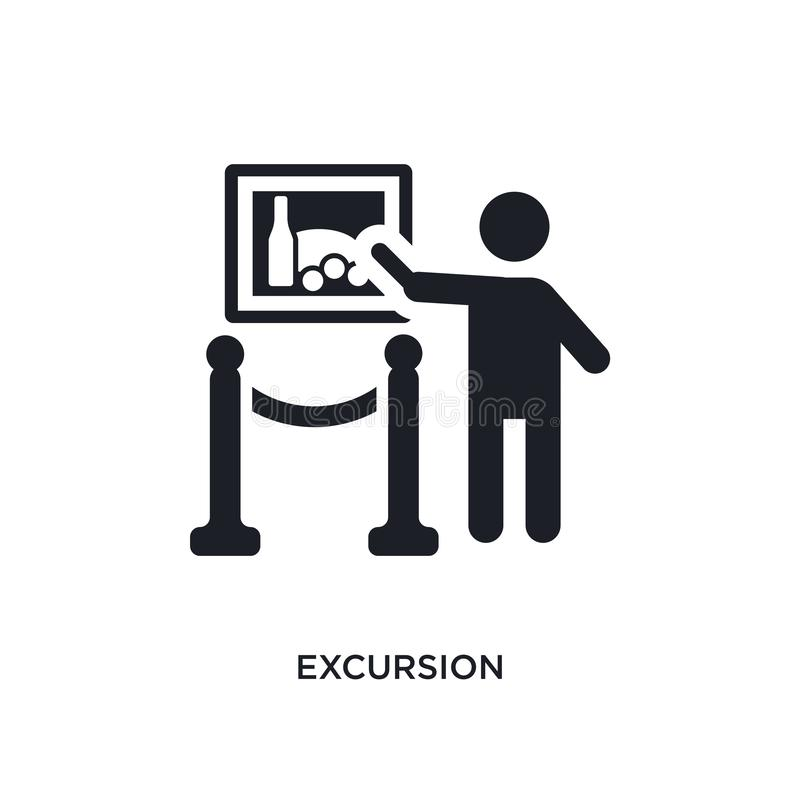 icono aislado excursión ejemplo simple del elemento de iconos del concepto del museo diseño editable del símbolo de la muestra de libre illustration