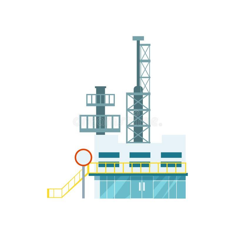 Icono aislado fábrica industrial del vector libre illustration