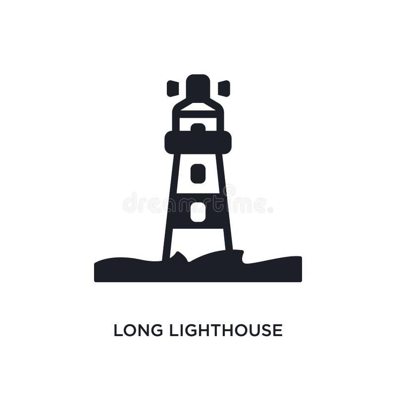 icono aislado faro largo ejemplo simple del elemento de iconos náuticos del concepto símbolo editable de la muestra del logotipo  stock de ilustración