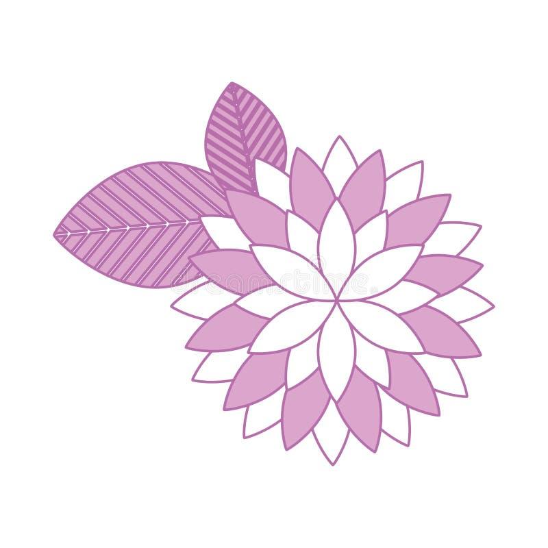 Icono aislado flor linda stock de ilustración